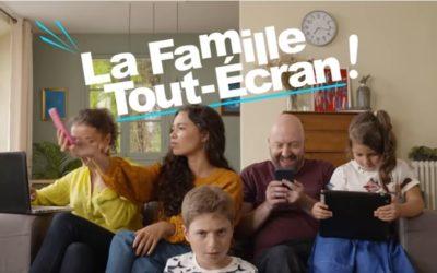 La famille tout écran